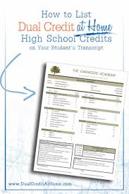 ideas about High School Courses on Pinterest   Homeschool     Pinterest How to List Dual Credit at Home     s High School Credits on Your Student     s Transcript
