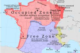 Map Of South Of France by B01 Modern Map Of France After The Invasion 1940 Ehri Online