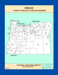 Maps Oregon by Maps Oregon Zone Forecast Boundaries