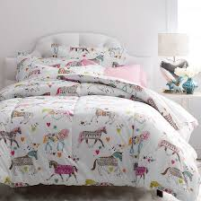 Girls Horse Bedding Set by Super Cozy Kids Comforter Designed With A Colorful Carousel Of
