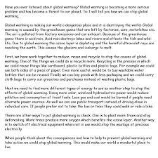 Essay Global Warming Effects