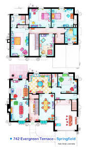 Floor Planners by House Of Simpson Family Both Floorplans By Nikneuk On Deviantart