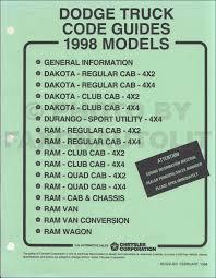 1998 dodge dakota pickup truck original owner u0027s manual 98