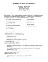 Resume Headline Examples by Sample Resume Format For Freshers Call Center Job Cover Letter