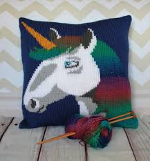 Knitted Cushions With Buttons Unicorn Cushion Cover Knitting Pattern By Ruby And The Foxes