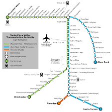 Amtrak Capitol Corridor Map by List Of Santa Clara Vta Light Rail Stations Wikipedia