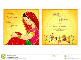 indian wedding invitation card stock vector image 48582415