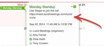 Screenshot  The meeting audio and link appear in the location field on my calendar