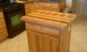 hand made hickory butcher block top u0026 wine rack for an existing