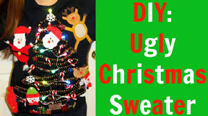 diy ugly christmas sweater youtube