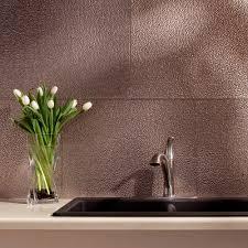 Wallpaper For Backsplash In Kitchen Fasade 18 In X 24 In Hammered Pvc Decorative Backsplash Panel In