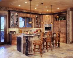 country cottage kitchen wall decor white cabinets gray floor wood