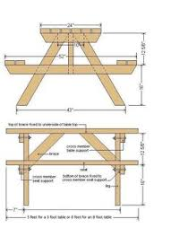 Free Wooden Picnic Table Plans by Diy Building Plans For A Picnic Table Backyard Ideas Pinterest