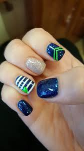 seattle seahawks nail design go hawks nails pinterest