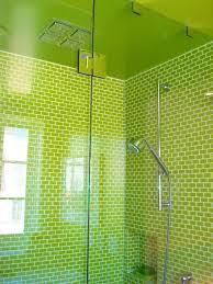 bathroom design ideas shower green bathroom glass wall stainless