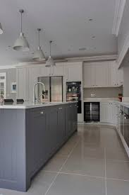 best grey kitchen floor ideas pinterest flooring love the kitchen island middle and color tone grayish blue with cone
