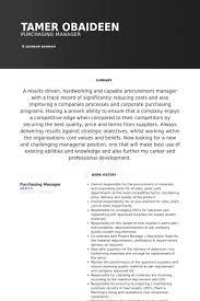 Purchasing Resume Samples   VisualCV Resume Samples Database VisualCV