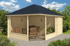 morten log gazebo with shed annexe 3 5 x 5 0m