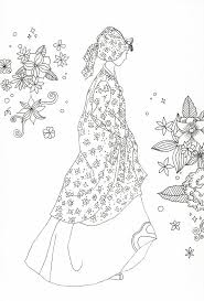 458 best coloring pages to print woman images on pinterest
