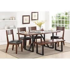 standard furniture sierra ii rustic table set with dining bench standard furniture sierra ii table set with dining bench item number 14101 14105