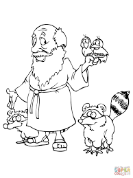 noah u0027s with animals coloring page free printable coloring pages