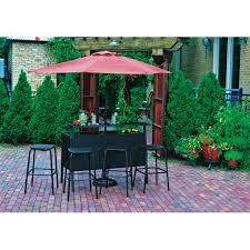 Patio Accents by Living Accents Catalina 6 Piece Bar Set With Umbrella All Patio