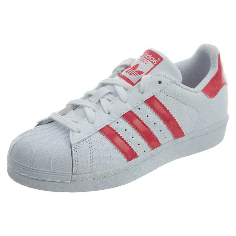 Adidas Kids Superstar C Originals, White/Real Pink/White,