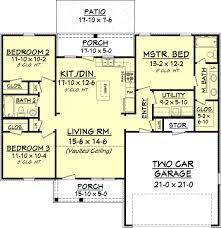 european style house plan 3 beds 2 00 baths 1300 sq ft plan 430 58