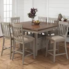 Light Wood Counter Height Dining Sets Foter - Counter height kitchen table