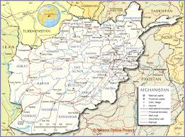 Pakistan On The Map Political Map Of Afghanistan Nations Online Project