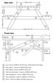 Plans To Build A Picnic Table Bench by How To Build A Picnic Table With Attached Benches Picnic Tables