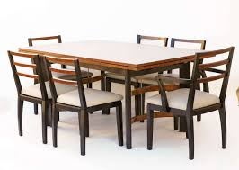 Van Living Ideas by Hastings Art Deco Dining Table Chairs By Donald Deskey Or Walter