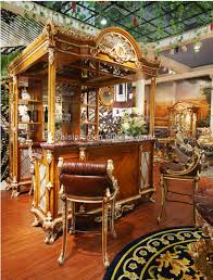 luxury french louis xv style golden bar furniture european