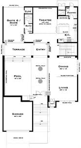 Floor Plans For One Level Homes by Modern House Plan 6 Bedrms 5 Baths 4757 Sq Ft 116 1067