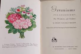 Cottage Garden Book by Cottage Flowers 40s 50s Vintage Garden Book Geraniums Pelargoniums