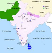 Ancient India Map by North To South India Tour Tours In North And South India Trip To