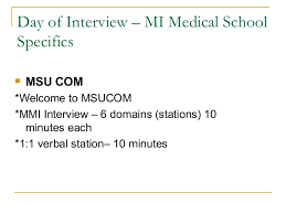 current students      Day of Interview     MI Medical School
