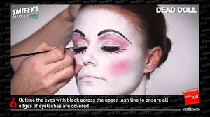 dead makeup halloween dead doll face painting make up tutorial youtube