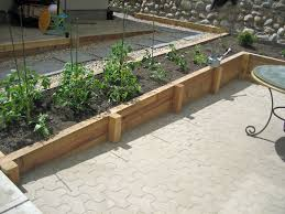 Outdoor Wall Planters by Wood Retaining Wall Landscaping U0026 Hardscaping Cedar Wood