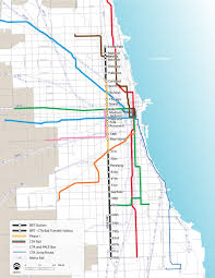 North Shore Chicago Map by Cta Ashland Brt Bus Rapid Transit