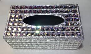 wall mounted kleenex holder crystal tissue box u2013 silver