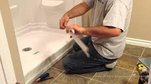 how to install glass sliding shower doors youtube