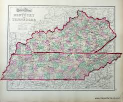 West Tennessee Map by Antique Maps And Charts U2013 Original Vintage Rare Historical
