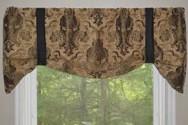 window treatment tie up valance black brown and tan window