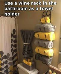 Cute Apartment Bathroom Ideas Colors Wine Rack For A Towel Rack Wine Storage Pinterest Wine Rack