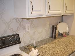 Backsplash For Kitchen Ideas For The Kitchen Backsplash Use A Stencil And Paint In With An