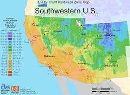 Big Map Of The United States by South West Us Plant Hardiness Zone Map U2022 Mapsof Net