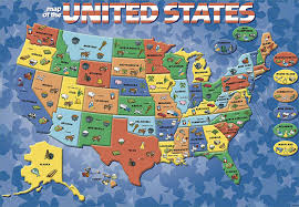 Arizona Us Map by Amazon Com Cardinal Industries Usa Map Puzzle Toys U0026 Games