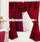 double swag shower curtain with valance, double swag shower ...