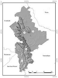 San Luis Potosi Mexico Map by